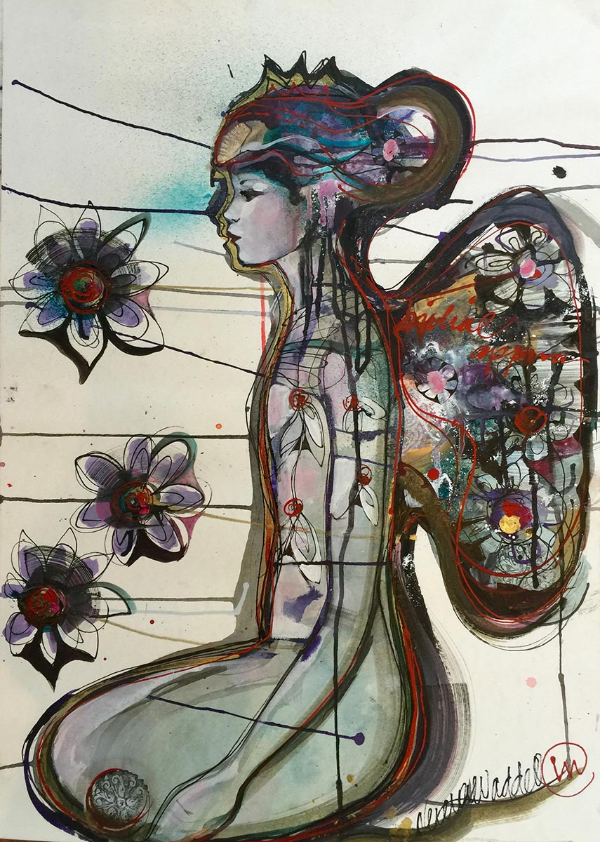 Verena Waddell visual artist original ink bliss moment