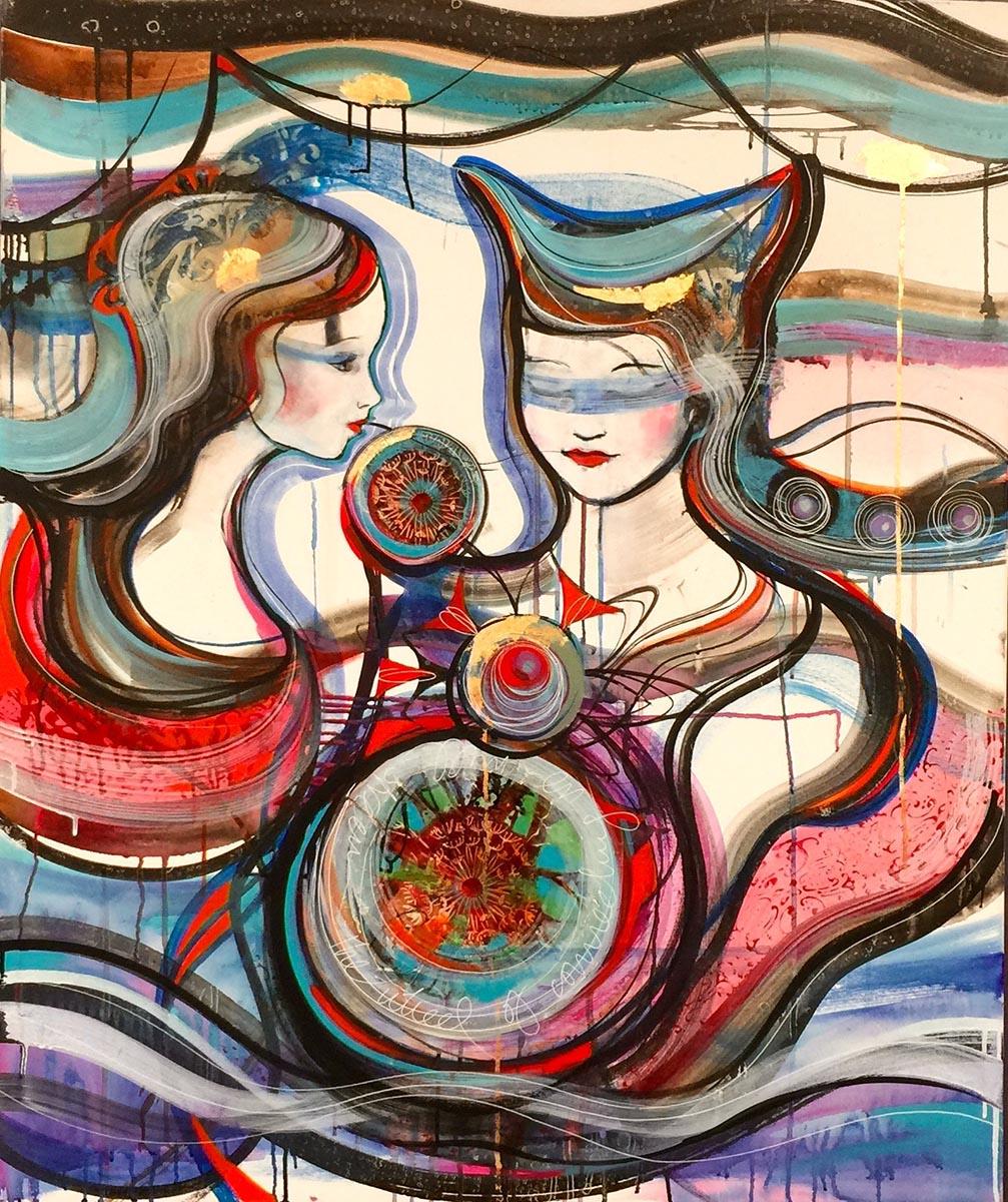 Verena Waddell visual artist original the well steamed