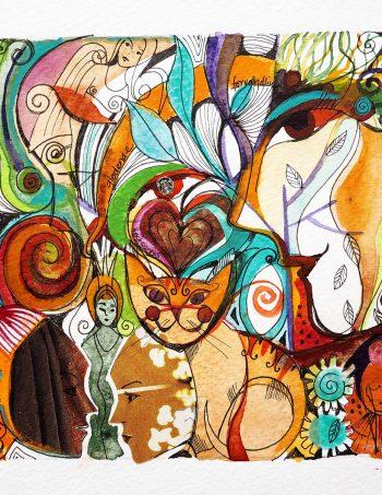 Verena Waddell visual artist print on canvas Host