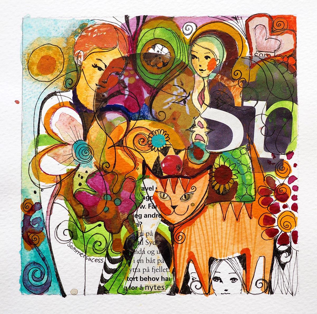 Verena Waddell visual artist print Sommer