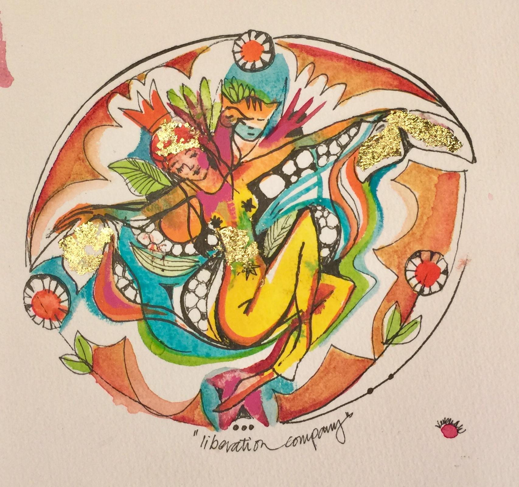 Verena Waddell visual artist ink original Liberation company