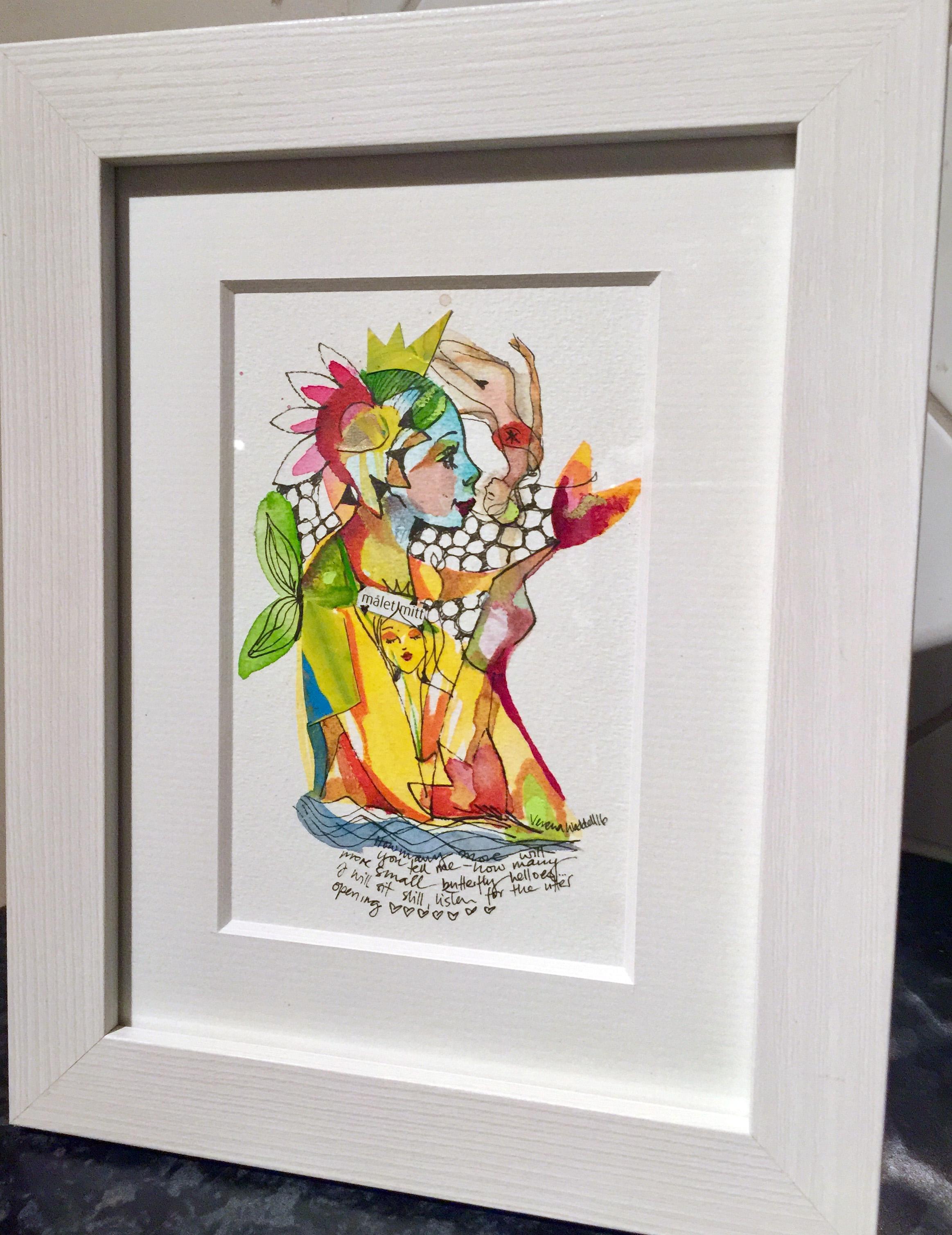 verena waddell visual artist original in watercolour malet mitt ramme