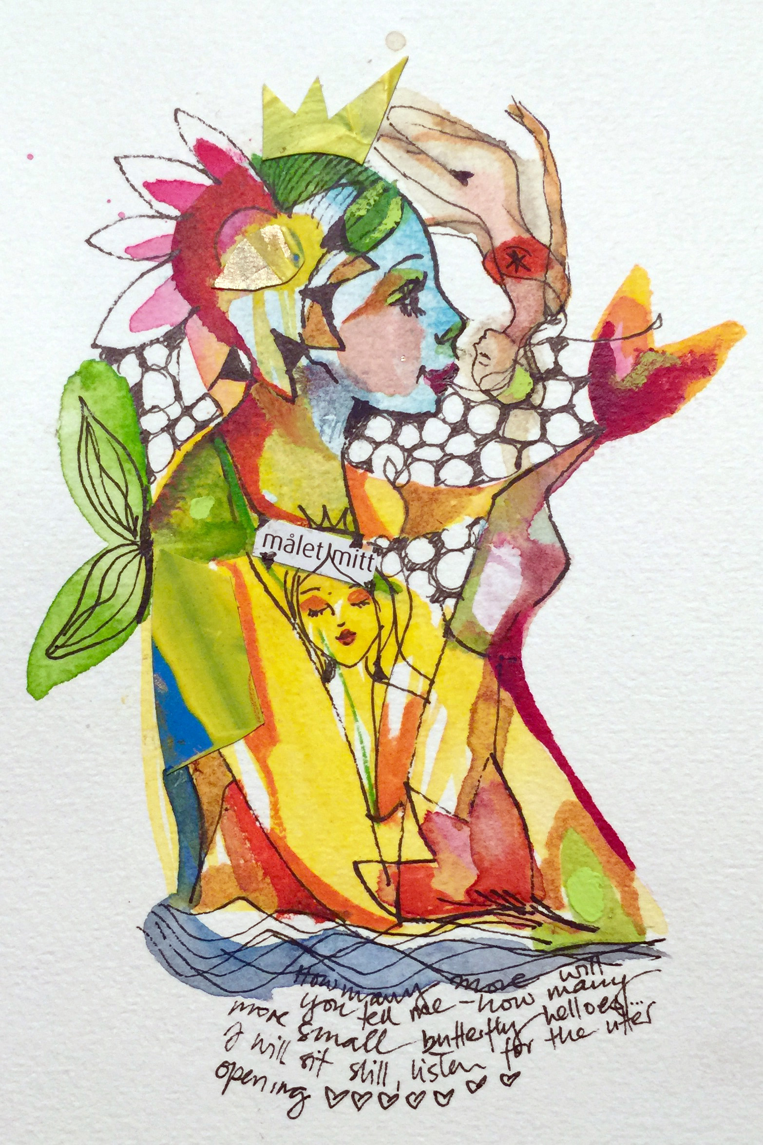 verena waddell visual artist original in watercolour malet mitt
