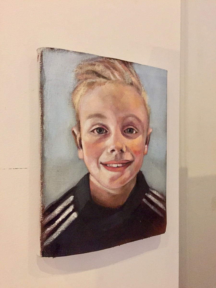 Portrett Verena Waddell visual artist portrett portrait custom oil
