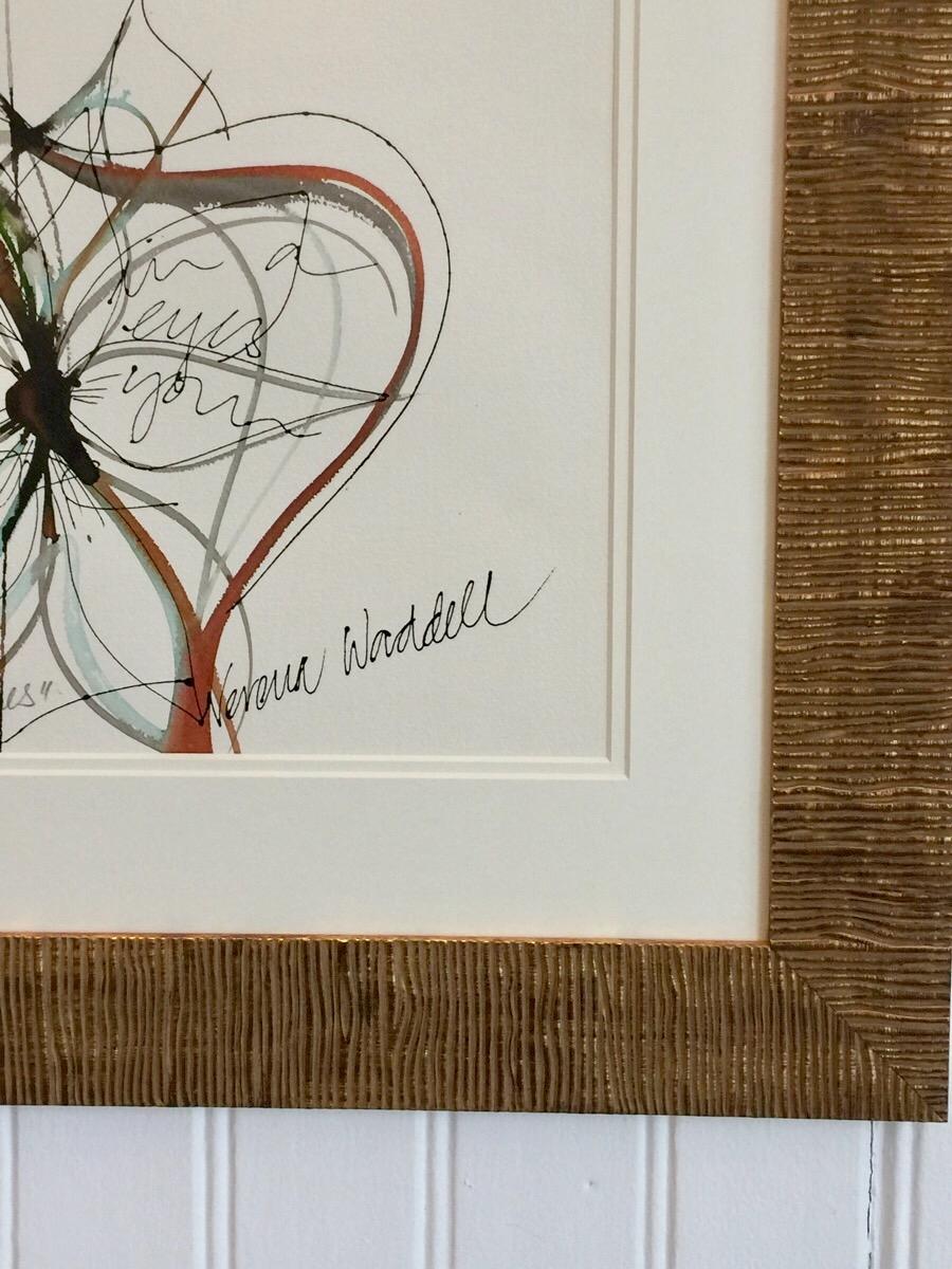 Verena Waddell visual artist INK framed detail make these linesVerena Waddell visual artist INK framed detail make these lines