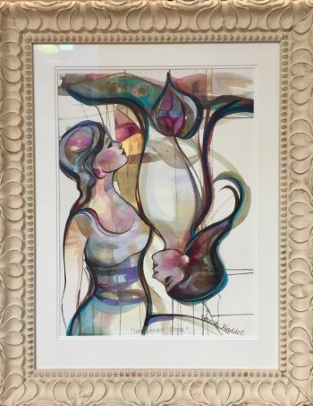 Verena Waddell visual artist INK original art transparent bloom love
