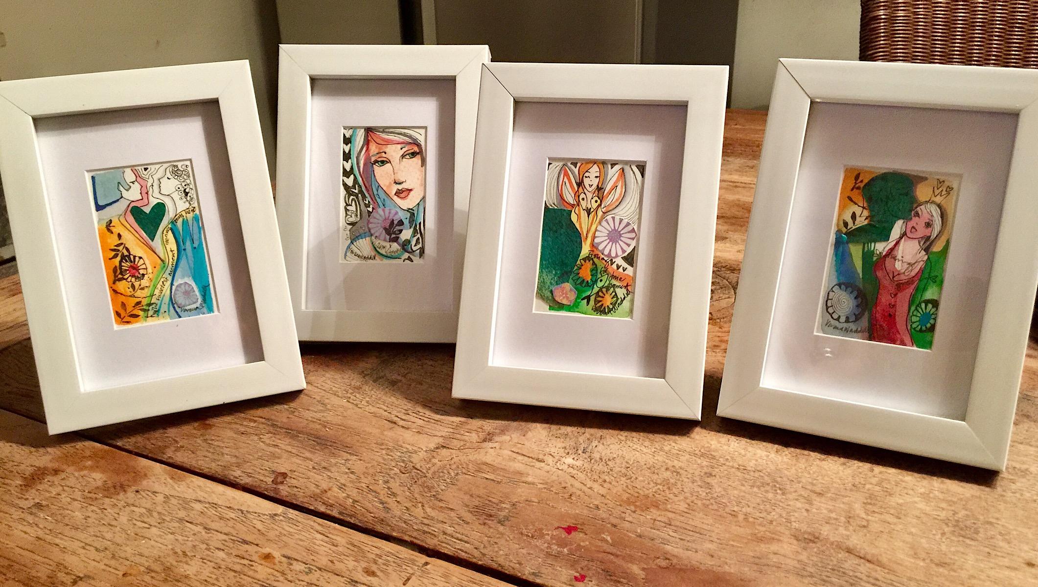 Verena Waddell visual artist original ink blekk gift gave