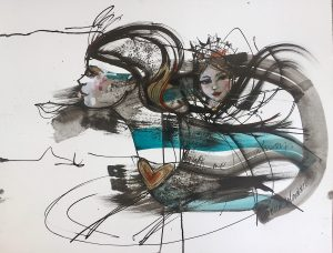 Verena Waddell blekk ink with me visual artist