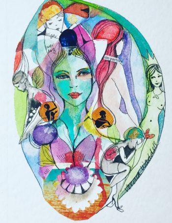 Verena Waddell kunst billedkunst ink blekk