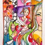 Verena Waddell visual artist original Tid sammen