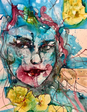 Verena Waddell ink original read my lips
