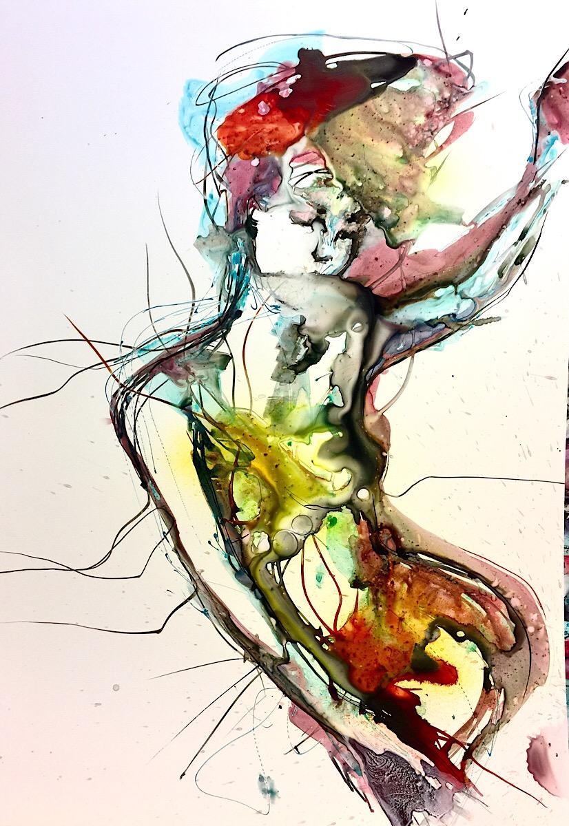 Verena Waddell ink original grace rest