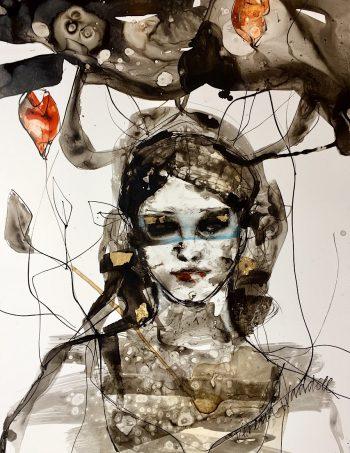 rose swimmer verena waddell blekk ink contemporary art Norway