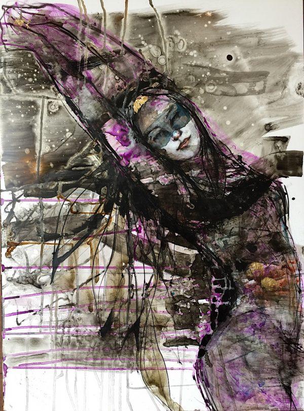 Dream drop ink original Verena Waddell
