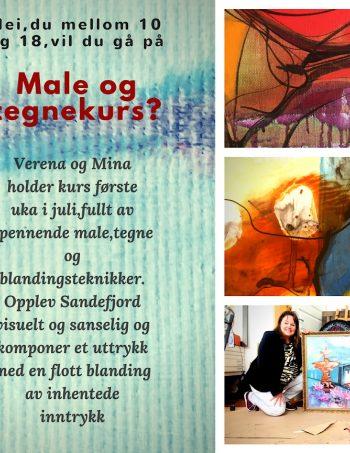 sommerkurs tegne male ungdom Sandefjord