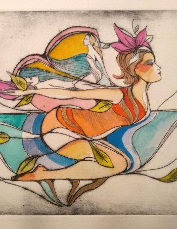 Love Flight Verena Waddell grafikk