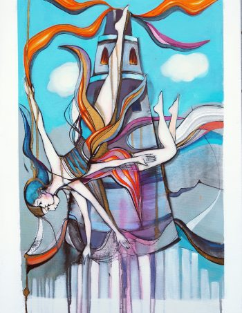The Tower print Verena Waddell Visual Artist